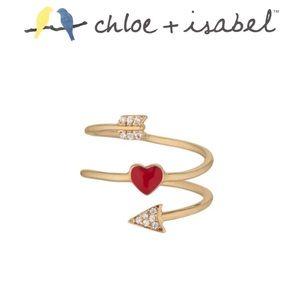 🆕 Petits Bijoux Heart + Arrow Ring c+i R165CLSG-9